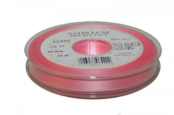 Band Satin 22355/10mm 25m, 015 rosa