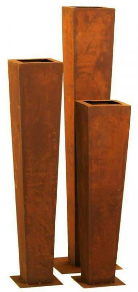 Rost Vase konisch H140cm