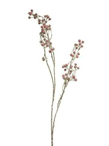 Beeren Zweig 97cm, rot
