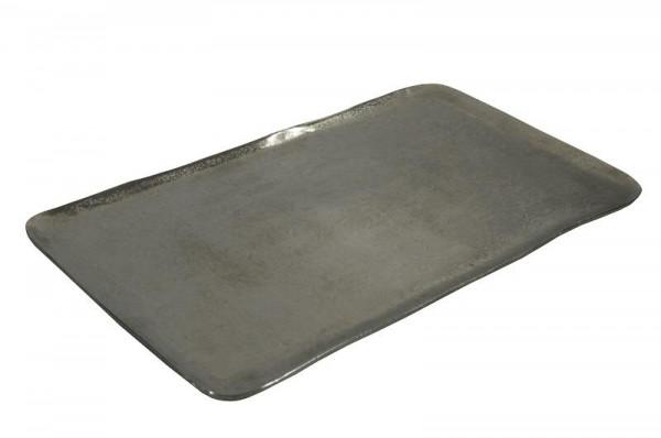 Tablett Alu antik 60x34cm
