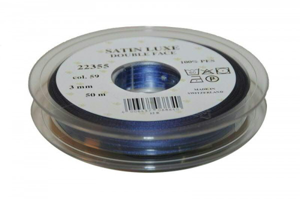 Band Satin 22355/03mm 50m, 059 m.blau