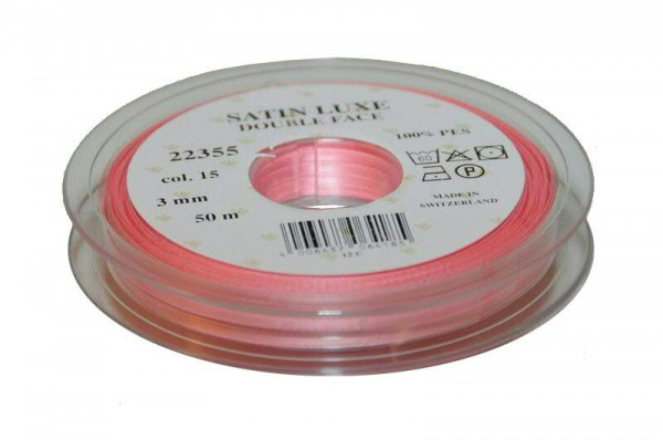 Band Satin 22355/03mm 50m, 015 rosa