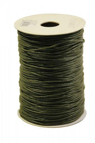 Kordel 1117/1,5mm 200m Wax cord, 66 oliv
