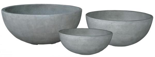 Schale BT211 D75/62/50cm 3er Satz, cement