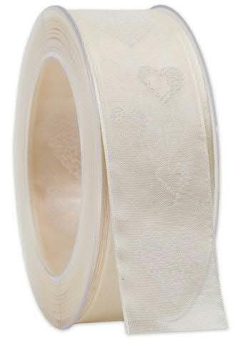 Band 149a/40mm 20m Herzen, 025 ivory