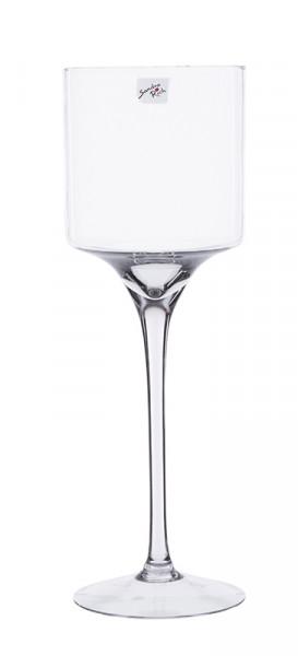 Glas Schale a.Fuß H40cm, klar