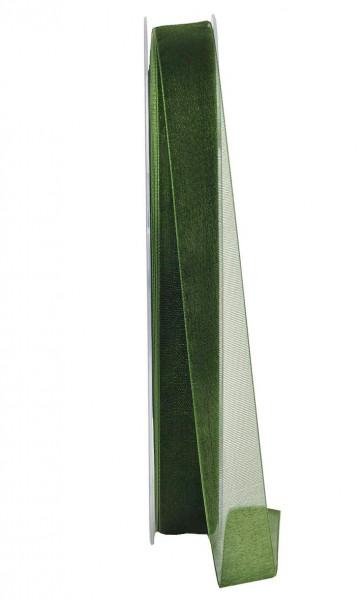 Band Organza 9654/15mm 50m, dunkelgrün