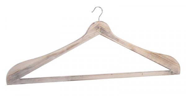 Kleiderbügel Holz 90x38cm, weiß wash