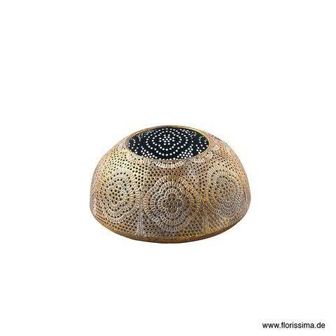 Windlicht Metall D16H8cm, gold antik