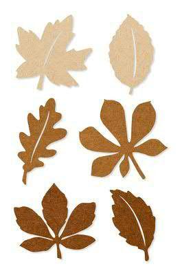 Herbstblätter SP Filz 6St. sortiert, 96 braun