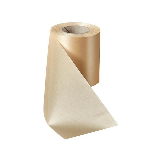 Kranzband 09000/125mm 25m Satin, 075 beige