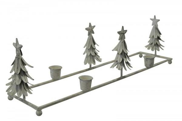 Kerzenleuchter sp metall cm weiß adventskranz