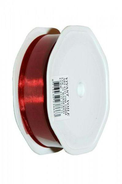 Band Organza 4335/25mm 25m, 21 rubinro