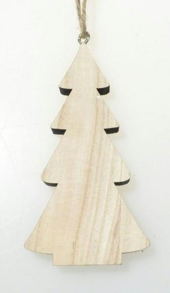 Tanne Holz 25cm zum Hängen, natur
