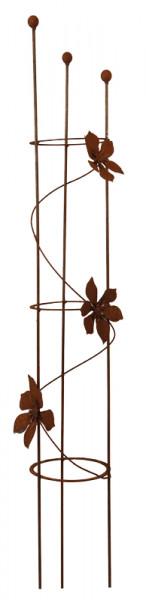 Rost Rankhilfe Clematis H160cm mit 3 Blüten