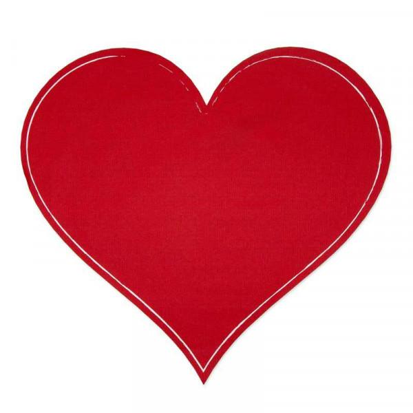 Tafelstoff Sticker Herz D40cm, rot