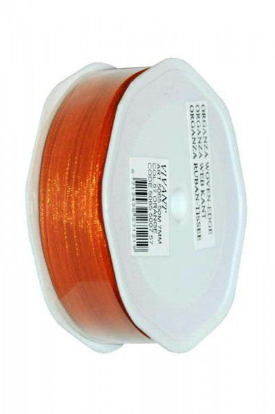 Band Organza 5065/7mm 50m, 57 orange