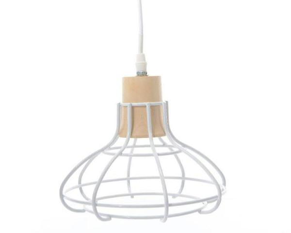 Lampe Eisen SP 22x24cm, weiß