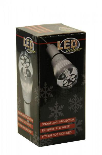 LED Projektor Glühbirne Schneeflock, weiß