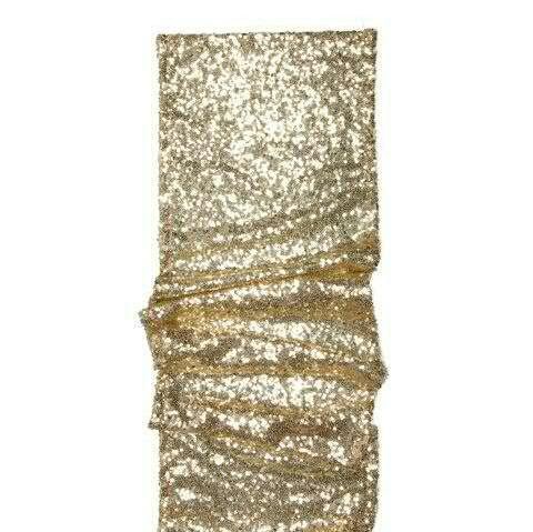 Tischläufer 24cmx2m Pailletten, 311 gold