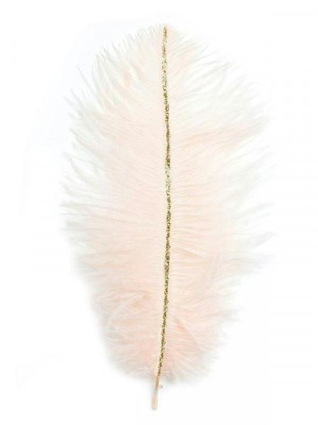 Straußenfeder 21x9cm 6St., 10 rosa