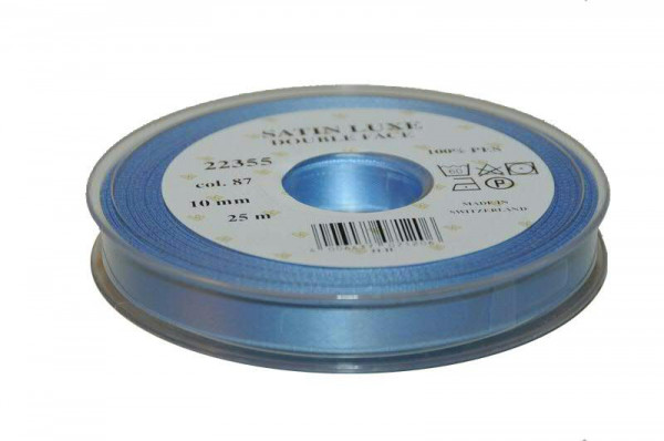 Band Satin 22355/10mm 25m, 087 h.blau