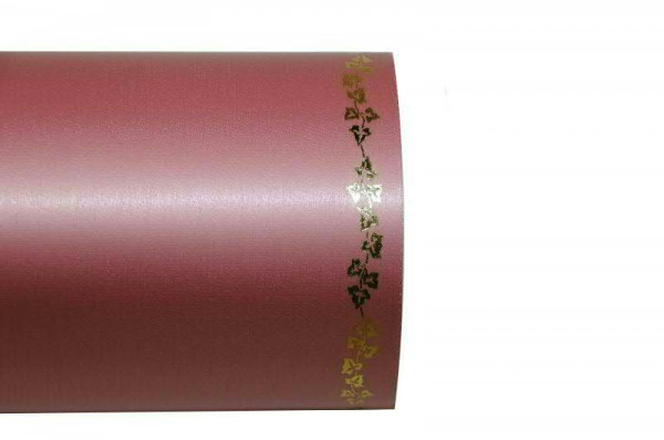 Kranzband 06738/200mm 25m Satin Efeurand gold, 007 wildro