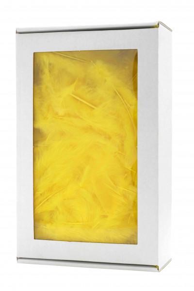 Maraboufedern 30g, gelb