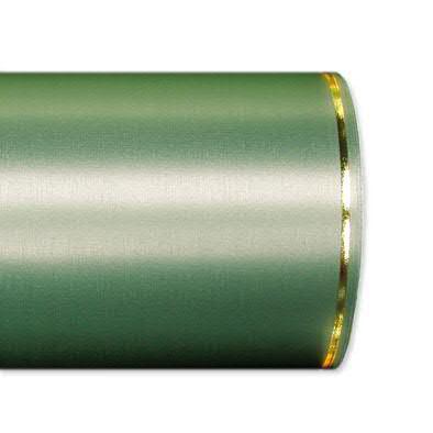 Kranzband 2501/175mm 25m Satin Goldrand, 706 grün