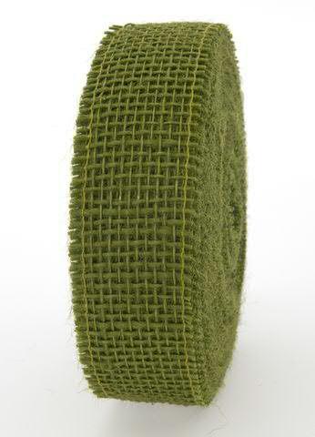 Juteband 40mm 25m, oliv
