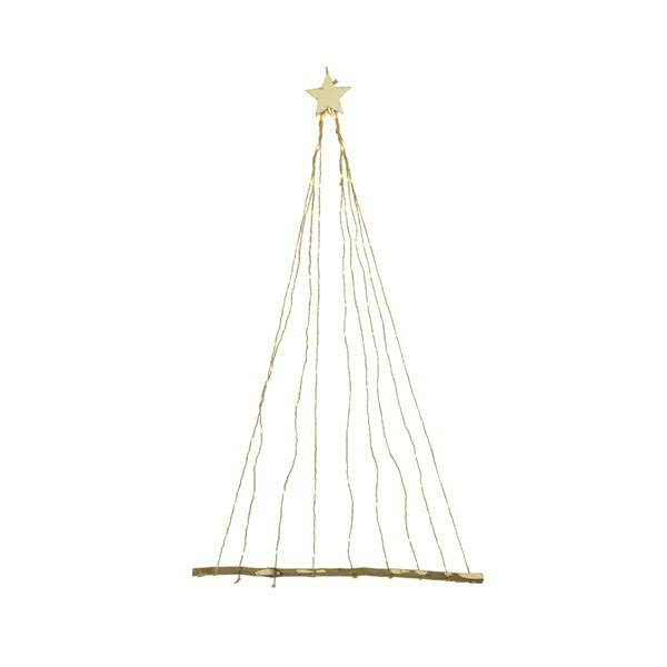 LED Seilbaum 90x150cm 144LED indoor 9 Stränge á 16LED, warm weiß