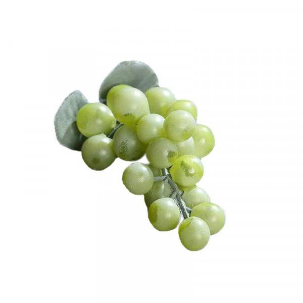 Weintrauben x24 10cm m.2Blättern, grün