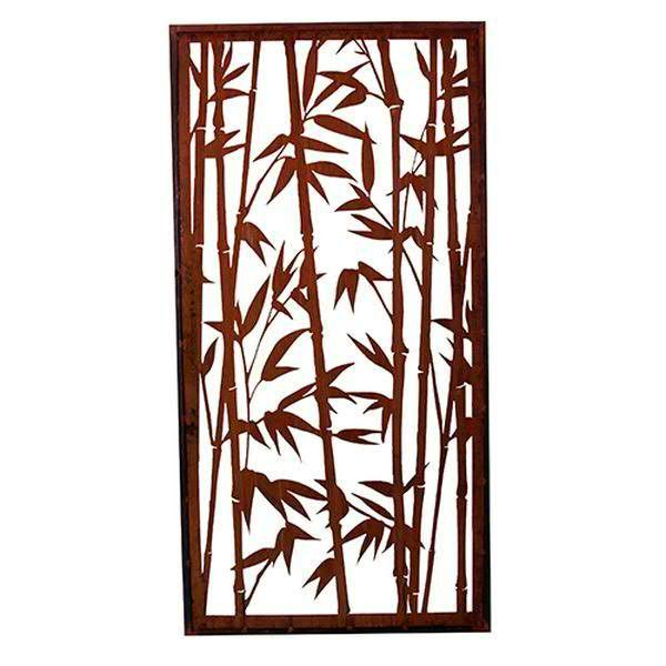 Rost Paravent 100x200cm Bambus
