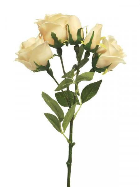 Rose verzweigt 53cm x5, peach