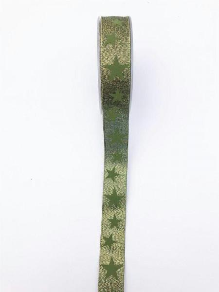 Band 3734/25mm 20m Sterne, 500 grün
