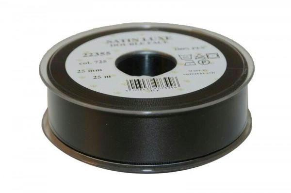 Band Satin 22355/25mm 25m, 725 schwar