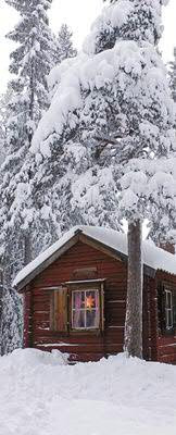 Banner 75x180cm Winterhütte