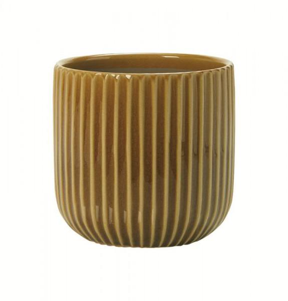 Kübel Keramik D17H16,5cm Lauri, karamell