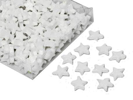 Sterne 1,7cm 144St.mit Glitter, weiß