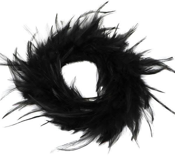 Federkranz D18cm, schwarz