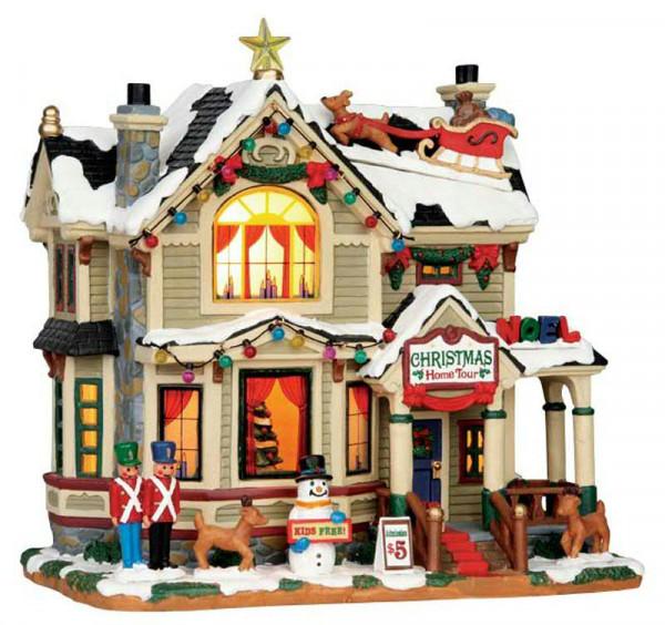 Christmas Home Tour 22,8x22cm Beleuchtet, Batteriebetrieben