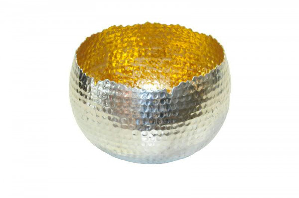 Sphärenlicht Alu 19x14cm, silb.gold