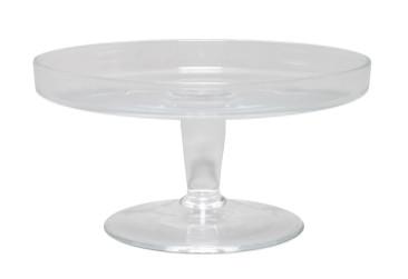 Glas Tortenplatte D19,5H10cm m.Rand, klar