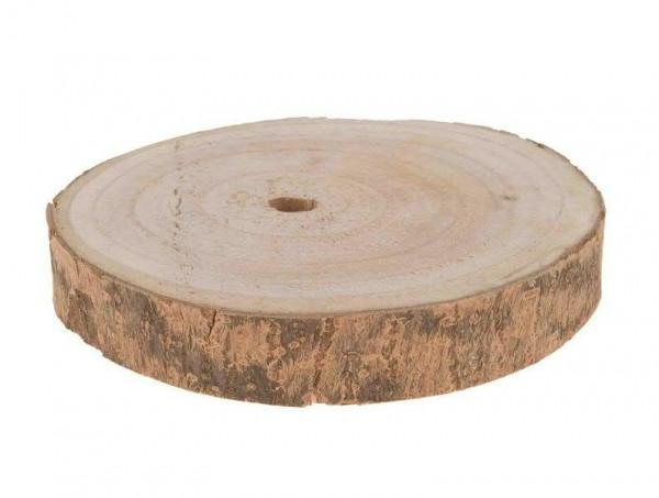 Scheibe Holz D20x3cm rund, natur