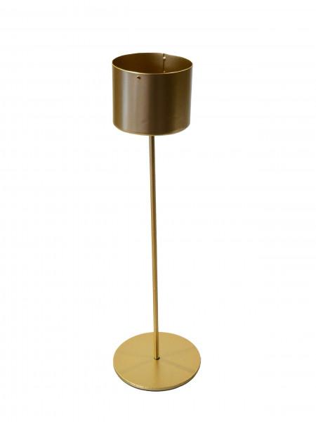 Kerzenständer Metall D6,5H30cm, gold