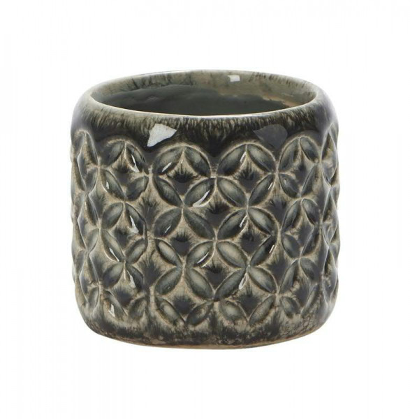Kübel Keramik D9H8cm Zora, grün