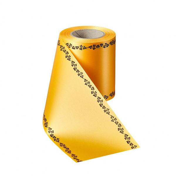 Kranzband 06739/175mm 25m Satin Efeurand schwarz, 053 freesi