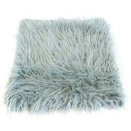 Kissen 45x45cm Vlies langes Haar, grau