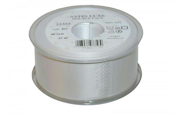Band Satin 22355/40mm 25m, 401 weiß