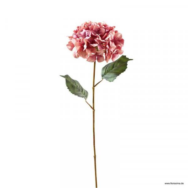 Hortensie 68cm 2 Blätter, pink